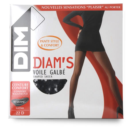 DIM - Diam's : Collant Voile Galb noir , Taille 3, 22 D